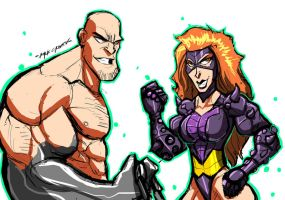 SKETCHIN: ABSORBING MAN AND TITANIA by Sabrerine911