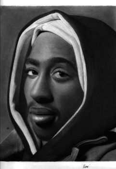Tupac Shakur drawing by hg-art