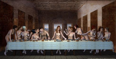 The Lass Supper, Last by PaulSuttonArt