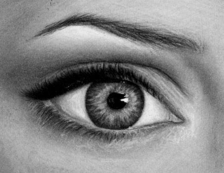 Angelina Jolie's eye drawing by JamiePickering