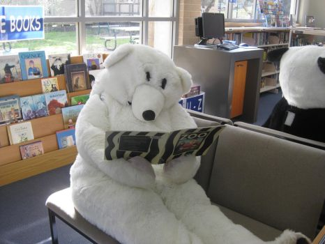 Yr 12 Muck Up Day - Polar Bear in the Library! by I-Have-A-Jar-Of-Dirt