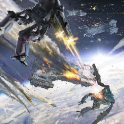Low orbit battle by 5ofnovember
