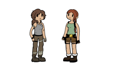 What if Old and New Lara met? by Coksii