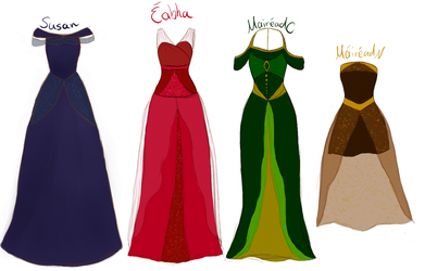 New Act II CW dress designs by xXLionqueenXx