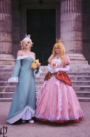Peach and Rosalina by 0-Xelm