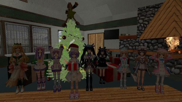 Gmod image: Neptunia Christmas pic by dragonsouloverlord5