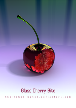 Glass Cherry Bite iPhone WP by THE-LEMON-WATCH