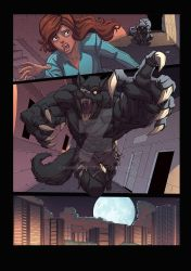 Night Wolf Comic Book Issue #1 Page 24 Colors by RAM-Horn