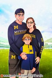 Family Portrait for Our friend in Football Stadium by Catifornia