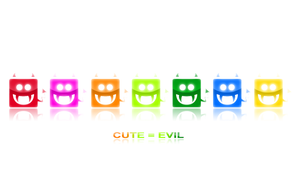 Cute is evil white by darianno