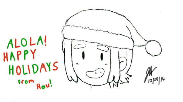 Happy Holidays from Hau! by Luigidrawer98