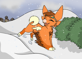 Snowy Season~! by LeafyWolf
