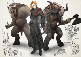 Durza and the Urgals by smilinweapon