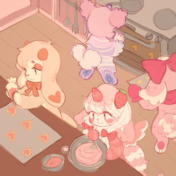 baking with friends by lunapizza