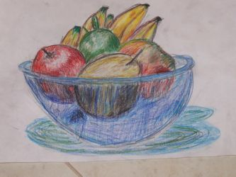 Fruit in a blue bowl by cherry-bomb94