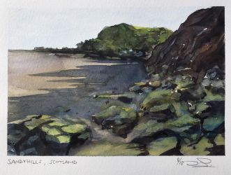 Sandyhills, Scotland  -  plein-air (45 min.) by dominikgschwind