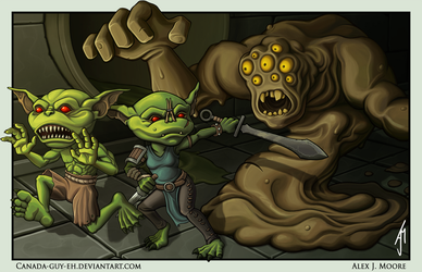 Attack of the Sewage Elemental by Canada-Guy-Eh