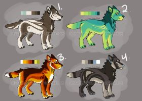 Wolf Adoptables - CLOSED by RussianBlues