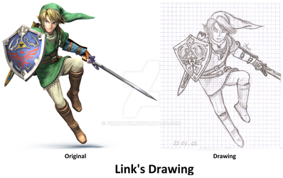 Link's Drawing from Super Smash Bros 3DS And WiiU