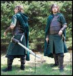Scout Leather armor for LARP by ArtisansdAzure