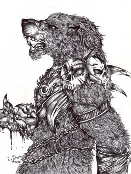 Lycan. The warlord. by FuriarossaAndMimma