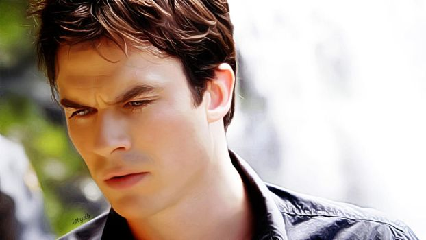 Damon Salvatore 5x02 by letydb