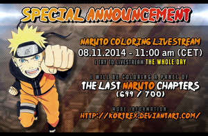 NARUTO coloring Livestream Announcement!! OVER by Kortrex