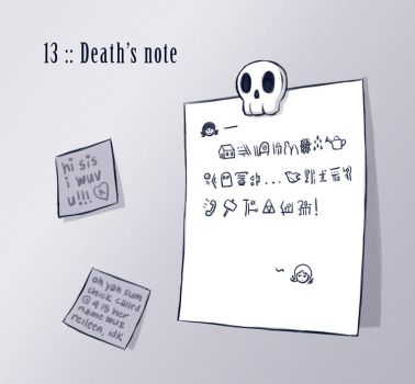 13 :: Death's note by VoxGraphicaStudio