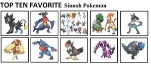 Top 10 Favorite Sinnoh Pokemon
