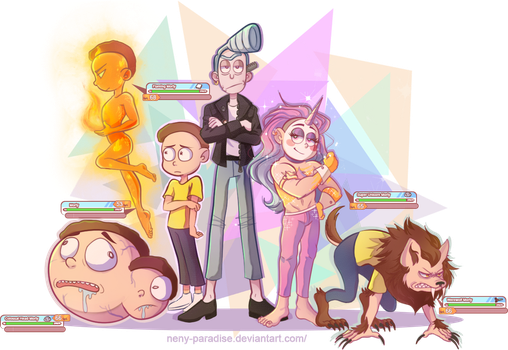 My Pocket Mortys Team by Neny-Paradise