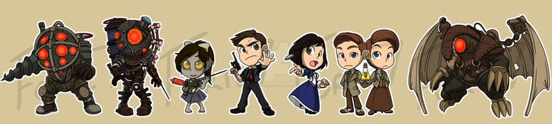 Stickers: Bioshock by forte-girl7