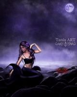 The Purple Mermaid by TaniaART