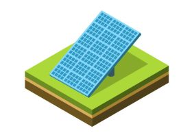 Solar-panel-isometric-vector by superawesomevectors