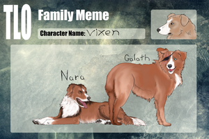 TLO|Vixen| Family Meme by NorthernMyth