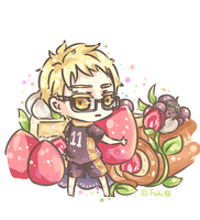 Tsukki and Strawberry Short Cake by Fuki03