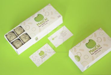 Mauchi (logo, packaging, name card design) by RestiMangunsong