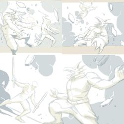 Fight scene sketches by chris-gooding