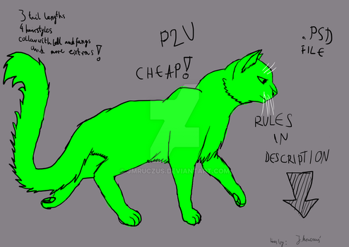 Warrior cat base PSD file, cheap, read description by jmruczus