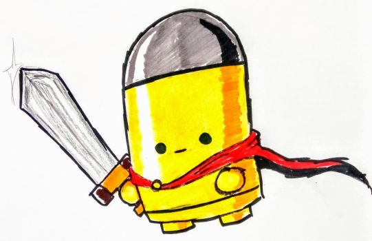 Enter the Gungeon The Bullet by theguywhodrawsalot