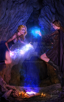 commission: 'Lady Excalibur V' ebook cover by 4steex