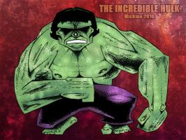 The Incredible Hulk by mickmoart