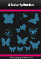 Photoshop Butterfly Brushes by DesignQueen