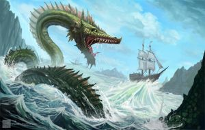 Tital Wave Dragon by oMIAUo