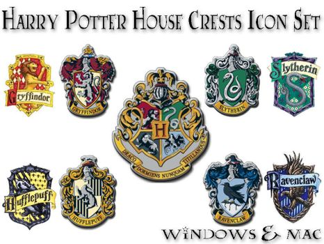 Harry Potter House Crest Icons by xnauticalstar