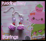 Pudding Berry Earrings by AyumiDesign