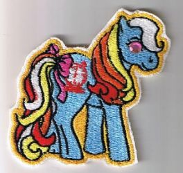 Bright Eyes Embroidered Pony by bewilderness