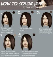 Hair Coloring Tutorial by Stefania-avr