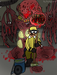 A Forgotten Experiment (Horror Drawing Practice) by Duckyworth