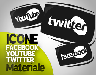 Facebook Twitter Youtube ICONS by ManuTheGraphic
