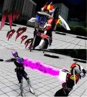 [MMD Kamen Rider]DENLINER IS THE BEST IN THE WORLD by MIST-TO-GUN